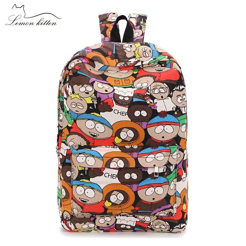 2019 Female Backpack Cartoon Street Graffiti Canvas Backpack Girl Female Best Travel Bag Women Backpack Mochila Rucksack Bagpack #2