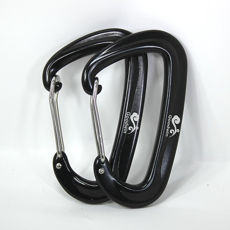 Aviation Aluminum D-type Buckle For Rock Climbing Hammock Garden Swing Outdoor Camping