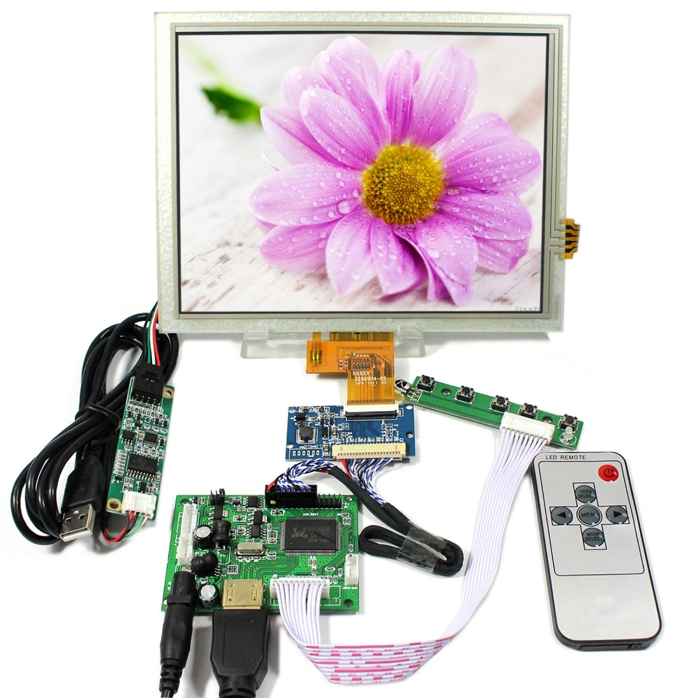 HDMI LCD Controller Board With 8inch 1024x768 EJ080NA-04C Touch LCD Screen hdmi lcd controller board 8inch ej080na 05b 800x600 lcd screen