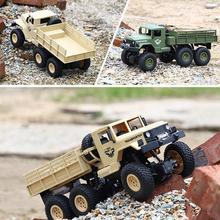1:18 RC Dongfeng Transporter 7/8 Military Truck 6 Wheels 4-Wheel-Drive Independent Shock Absorber Off-Road Remote Control Car цена и фото