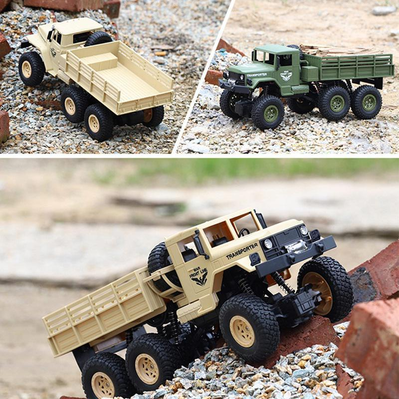 1:18 <font><b>RC</b></font> Dongfeng Transporter 7/8 Military <font><b>Truck</b></font> 6 <font><b>Wheels</b></font> 4-<font><b>Wheel</b></font>-Drive Independent Shock Absorber Off-Road Remote Control Car image