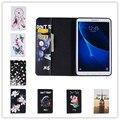 2016 новый красочным цветок и бабочка кожаный чехол для Samsung Galaxy Tab 7.0 T280 T285 cute bear & прохладный свинья кошелек случае крышка