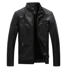 2019 Mens Fur Coats PU Leather Jackets Biker Motorcycle Jacket Warm Tops Slim Fit Overcoat Plus Size Clothes XL-5XL