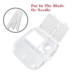 Image 4 - 1PC קעקוע רפואי קיבולת פלסטיק חד מיכל Biohazard מחט Disposale פסולת תיבת אחסון קעקוע ציוד אבזרים
