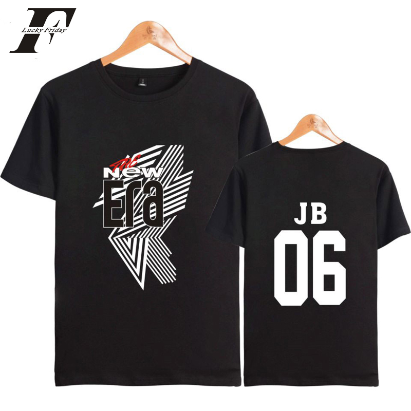 LUCKYFRIDAYF 2018 GOT7 JB 06 Kpop Summer Fashion Men/Women T-shirt The New Era Popular Cool Tshirt Sexy Summer Sexy Plus Size