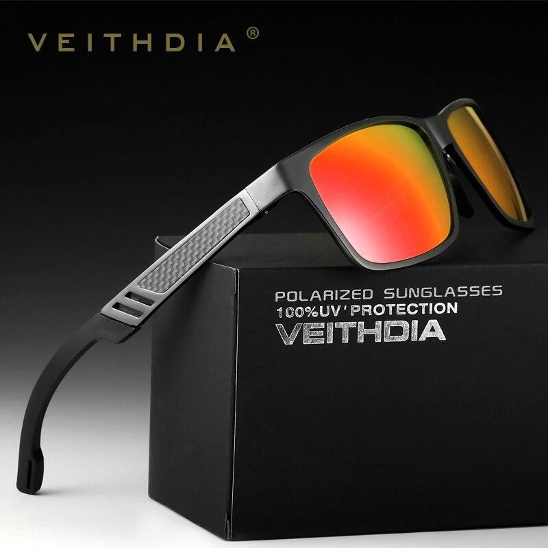 VEITHDIA Marque Designer lunettes de soleil en aluminium lentille polarisée lunettes de soleil pour homme Miroir Mâle lunettes Oculos de grau 6560