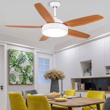 52 inch Nordic Vintage 5 Blades Ceiling Fan With Lights Remote Control Ventilador De Techo Fan LED Light Bedroom Ceiling Fans(China)