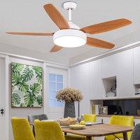 52 inch Nordic Vintage 5 Blades Ceiling Fan With Lights Remote Control Ventilador De Techo Fan LED Light Bedroom Ceiling Fans
