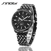New Sinobi Dress Quartz Business Sports Watches Men Military Full Steel Casual WristWatch Waterproof Relojes Hombre