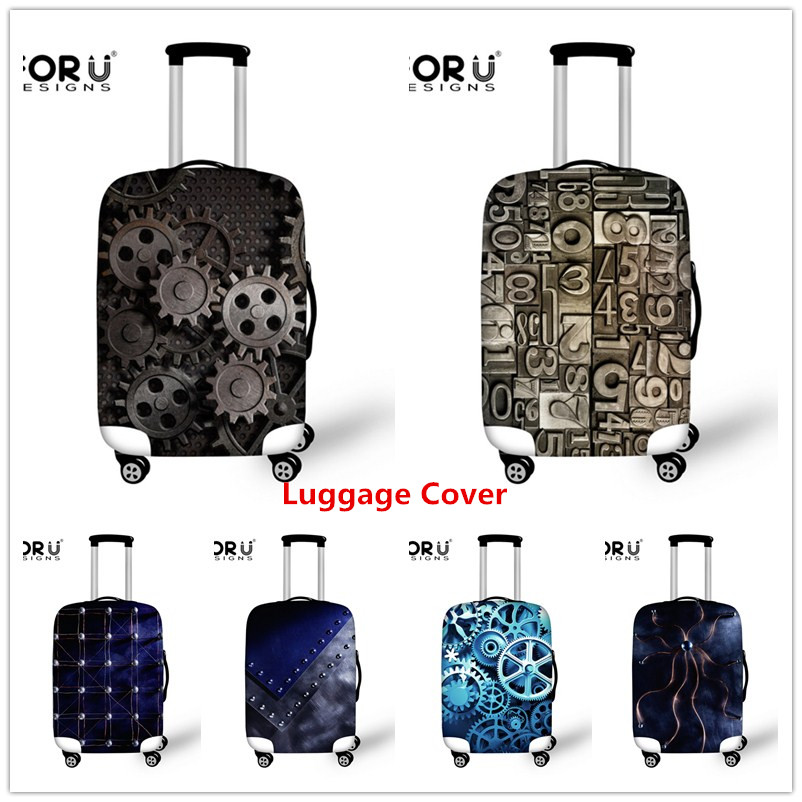 FORUDESIGNS Elastic 3D Cool Luggage Perlindungan Perlindungan Mesin Logam Perlindungan Kantung Perlindungan Kantung Perlindungan Cover Luggage