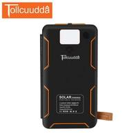 TOLLCUUDDA High Capacity 20000mAH Power Bank Solar Mobile Charger Solar Panel Moblie Powerbank Portable Battery For