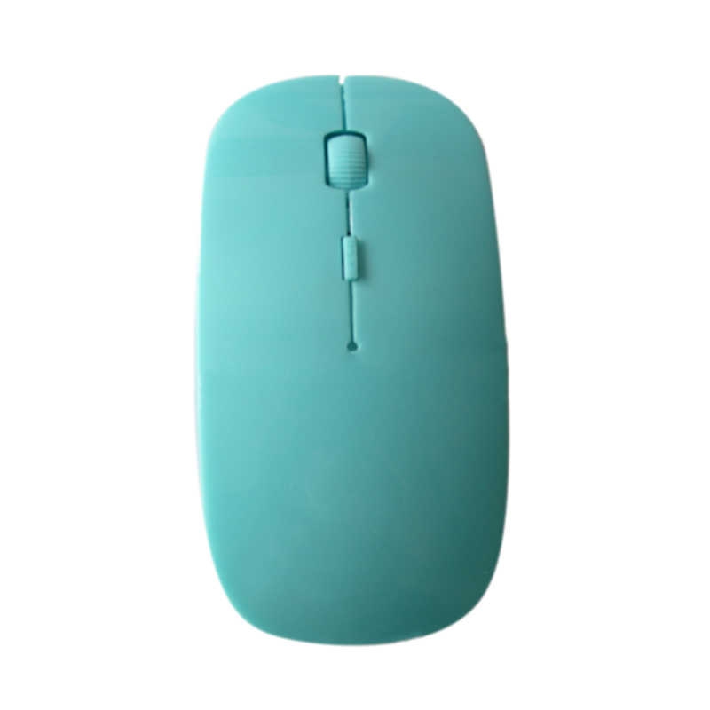 Etmakit 2.4 GHz Ultrathin Wireless Optical Mouse 1200 Dpi USB PC Laptop Komputer Gaming Mouse Hadiah NK-Belanja