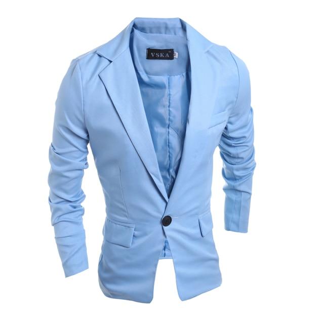 Nieuwe Mode 2016 Lente Herfst Casual Suits Mannen Slim Business Jurk Suits Jas 4 Effen Kleur Plus SIze Mannelijke Mannen Tops Kleding
