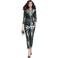 3c472b561578e Elegant African Print Blazers With Trousers Women S Set Clothing Ankara  Fashion Dashiki Pant Suits Customized