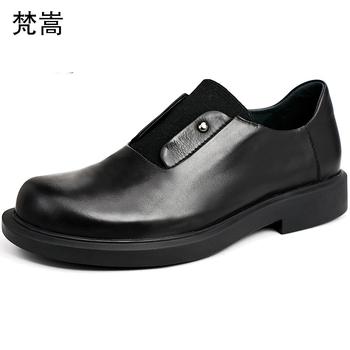 Wiosna mężczyzna luksusowe buty męskie buty designerskie cały mecz skóry wołowej prawdziwej skóry sznurowane na co dzień biznes męskie buty mężczyźni ubierają buty tanie i dobre opinie Dla dorosłych Przypadkowi buty Podstawowe Gumowe Oddychająca Wodoodporna Skóra bydlęca 梵嵩 Lace-up Świńskiej Wiosna jesień