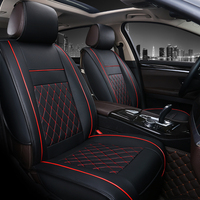 leather car seat cover set universal cars seats protector fur cushion for women back tesla model 3 car chair cover truck