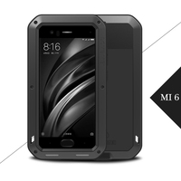 LOVE MEI For XiaoMi Mi 6 Case Metal Aluminum Powerful Case For XiaoMi Mi6 Shockproof Cover with Tempered Glass