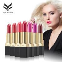 HUAMIANLI Waterproof 12pcs Matte Lipstick Red Lip Tint Gloss Balm moisturizing Long Lasting Lip Stick Make Up Batom Comestic YE2