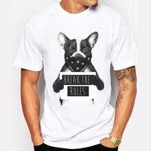 New 2016 Men T shirt Bad Dog Prisoner Print Tee Shirt Men Short Sleeve font b