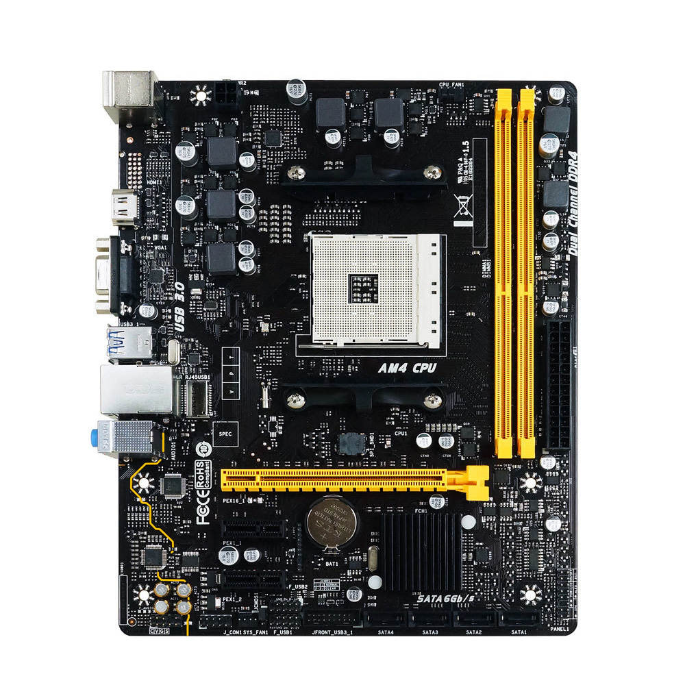 BIOSTAR A320MH PRO AM4 A320 Desktop Computer Motherboard DDR4 Support DDR4 9500 9600 Ryzen 1400 PCI-E 3.0 Micro ATX Motherboard