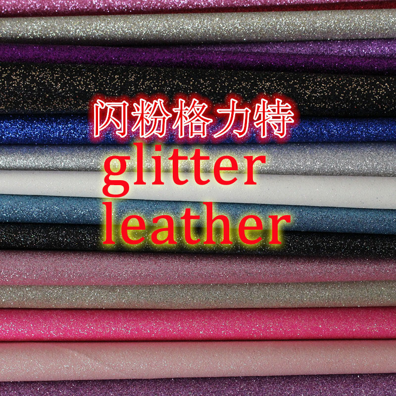 Multi colore in stock Materiale sintetico PU glitter pelle materiale pelle s1001