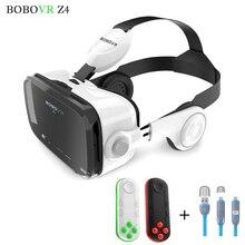 Bobovr z4หนังโปรvrชุดหูฟัง3dแว่นตาหมวกกันน็อกความเป็นจริงเสมือนกลมกระดาษแข็งgoogleแว่นตาfor4-6 'mobileโทรศัพท์+ระยะไกล