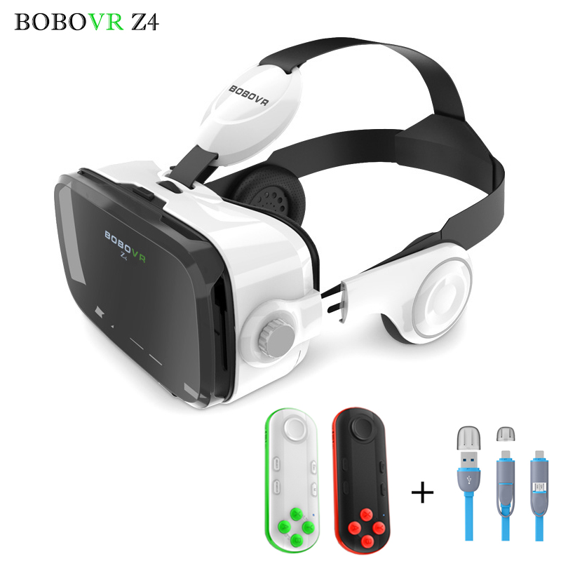 BOBOVR Z4 Pro Leather <font><b>VR</b></font> Headset 3D Glasses <font><b>Virtual</b></font> <font><b>Reality</b></font> Helmet Oculus <font><b>Cardboard</b></font> <font><b>Google</b></font> Glasses for4-6' <font><b>Mobile</b></font> <font><b>Phone</b></font> + Remote