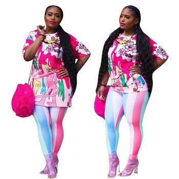 цена на new style African Women clothing Dashiki fashion Print elastic cloth two piece suit short sleeve top+ pants size S-XXXL 9007