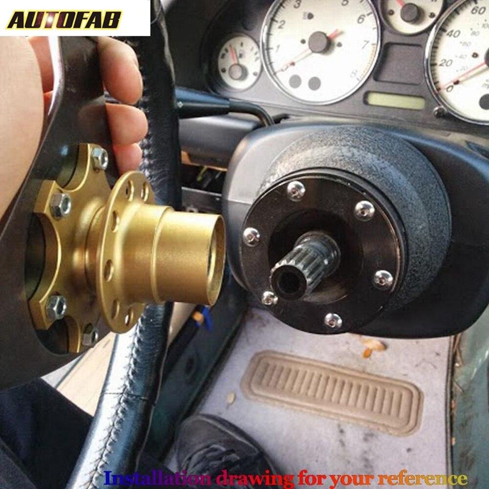 Cuque 350mm 14 inch Universal PVC Leather Steering Wheel 6-Bolt Car Aluminum Frame Racing Steering Wheel