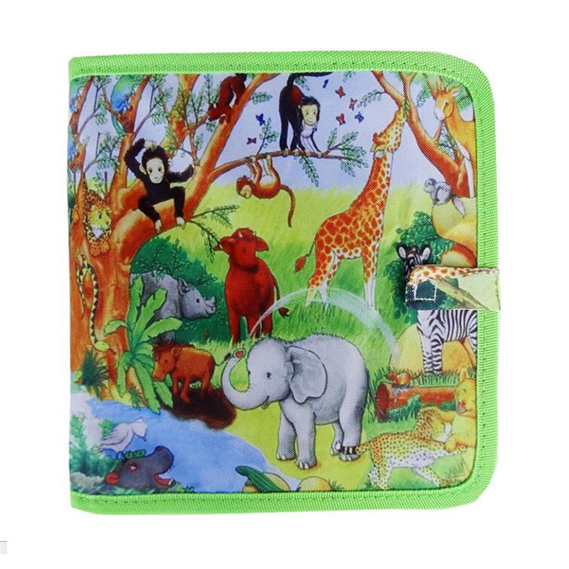 21.5*22CM Child Black DIY Drawing Toys Painting book with 3 chalk Kids portable Sketchpad Chlidren