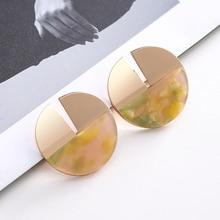 Korean Acrylic Stud Earings Boho Earrings for Women Pendientes Mujer Moda Jewelry Oorbellen Brinco Earring Aretes