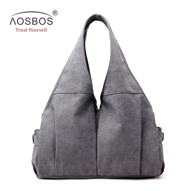 b338411bc0d7 Aosbos Large Capacity Canvas Gym Bag Multi-pocket Sports Bags for Women  Fitness Outdoor Travel
