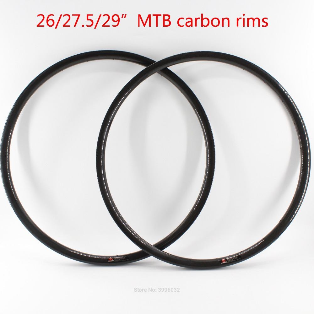 Nouveau 26/27. 5/29er pouces VTT 3 K UD 12 K pleine fibre de carbone vélo roues carbone pneu jantes vtt frein à disque livraison gratuite