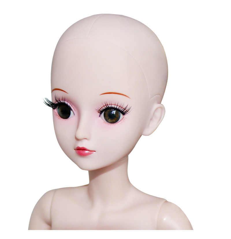 19 이동식 관절 60cm 1/3 BJD 인형 여성 누드 누드 여성 인형과 옷 패션 인형 장난감 소녀 선물