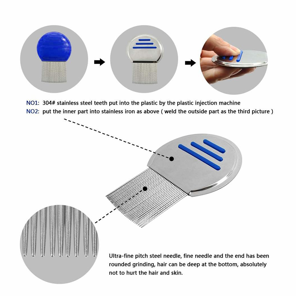 Lice Comb For Dog Child Hair Nits Treatment Louse Combs Nit Removal Remover Stainless Steel Brush Professional Terminator New in Combs from Beauty Health