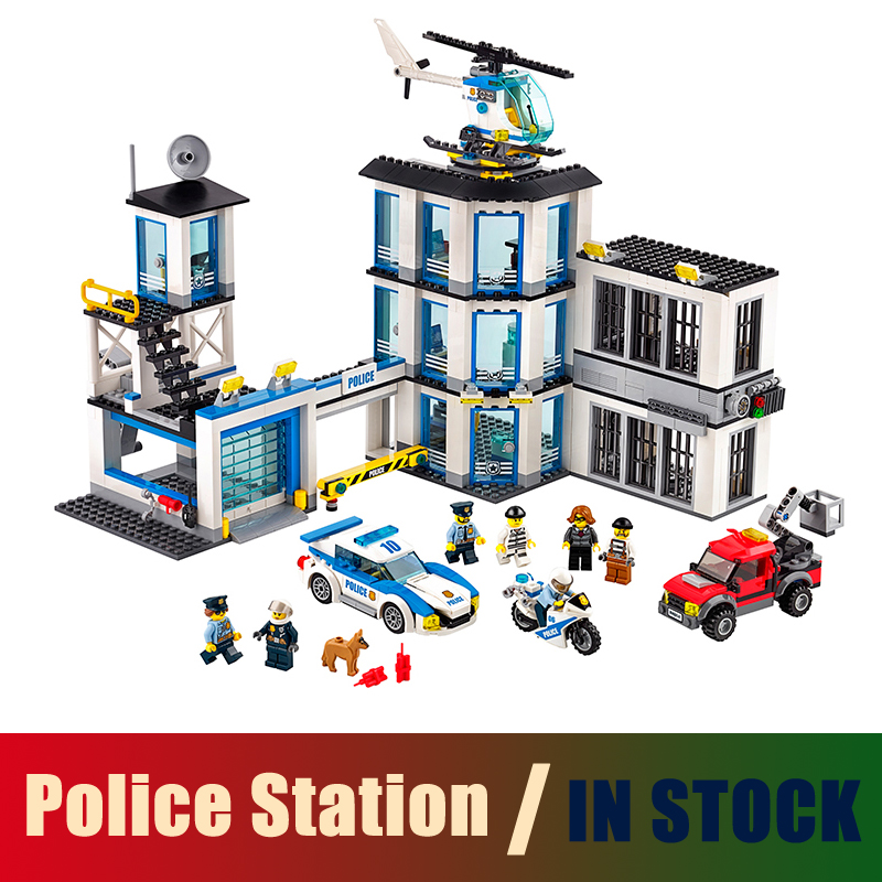 Compatible with lego City Series 60141 Models building toy 965Pcs Police Station Building Blocks toys & hobbies birthday gift 442pcs police station building blocks bricks educational helicopter toys compatible with legoe city birthday gift toy brinquedos