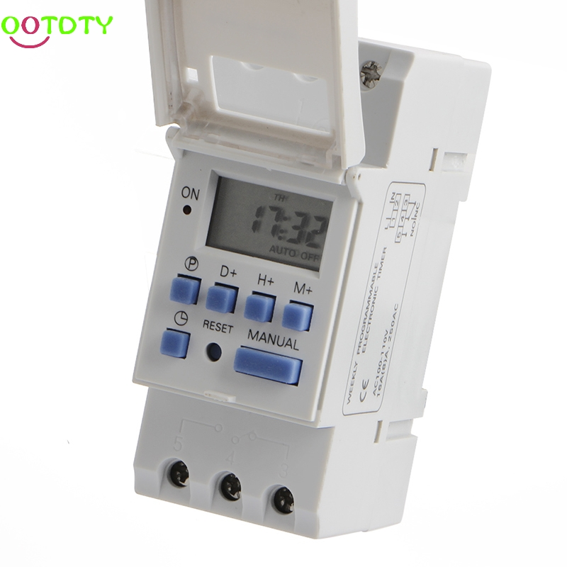 New DIN Rail Time Relay Switch Digital LCD Power Programmable Timer DC 110V 828 Promotion new digital lcd programmable timer 12v dc din rail time relay switch power drop ship