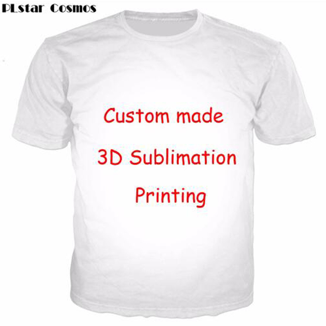 Accept 1pcs Customer Design Settings T-Shirt Women Men Couple T-shirts  Create your own Sublimation 3D digital printing t shirt 1e159b460