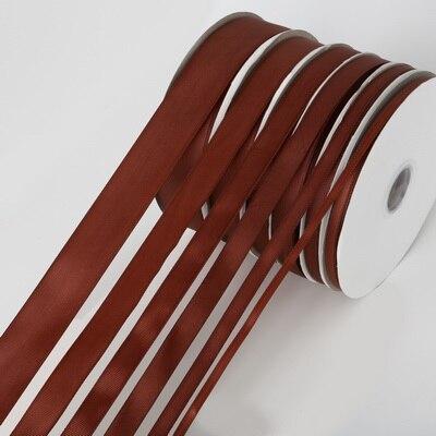 5 ярдов/рулон корсажные атласные ленты для свадьбы, украшения для рождественской вечеринки, самодельные ленты для поделок, открыток, подарочных упаковочных принадлежностей - Color: Brown