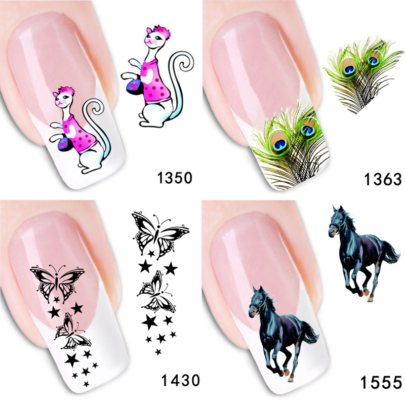 AddFavor 2PCS Horse Nail Art Sticker Decal Water Transfer Nail Design  Stickers Polish Makeup Manicure Fingernail Adhesive Nails - Hot Sale AddFavor 2PCS Horse Nail Art Sticker Decal Water Transfer