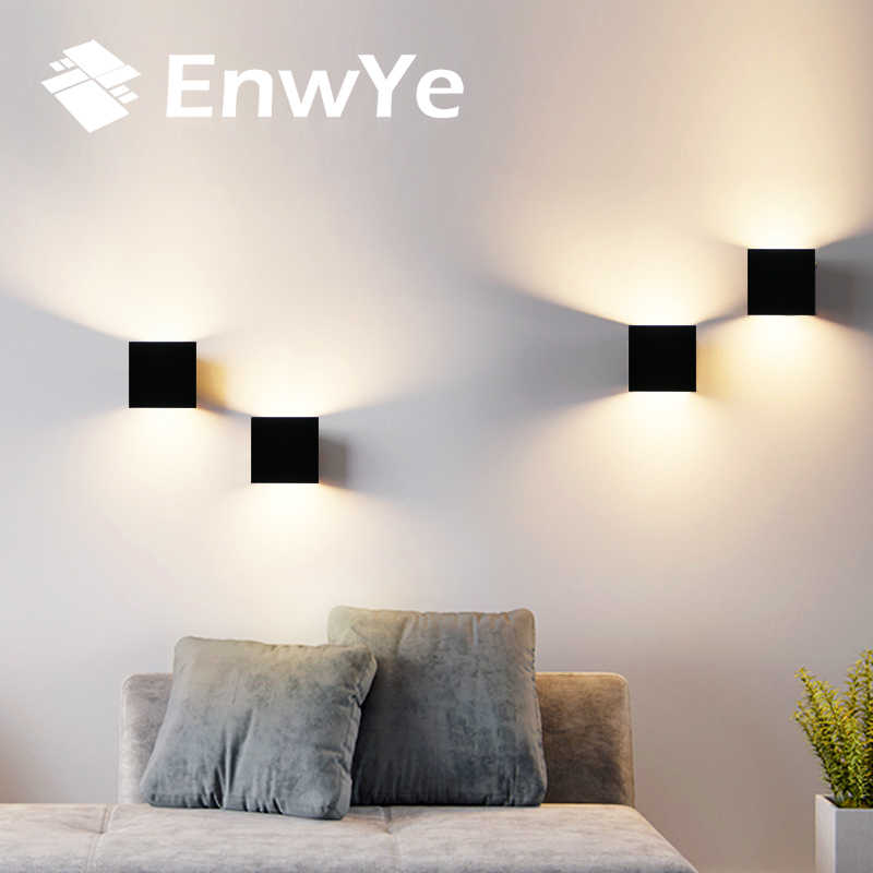EnwYe 6W LED Indoor Wall Lamp Modern Aluminum wall light rail project AC 220V Bedside Cabinet Bedroom Wall Lamp arts BD74