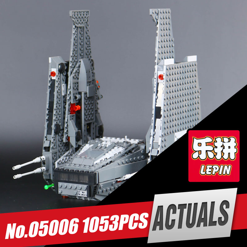 LEPIN 05006 Hot Sale 1053pcs Star Kylo set Ren toy Command model Shuttle Educational Building Blocks Kid's War Toys compatible hot sale 1000g dynamic amazing diy educational toys no mess indoor magic play sand children toys mars space sand