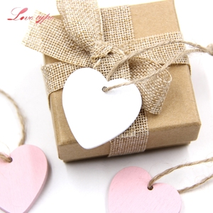 10PCS Mini Heart Wooden Pendants Ornaments Wood Craft Vintage Home Wedding/Birthday Party Decorations Wedding Favors Gifts(China)