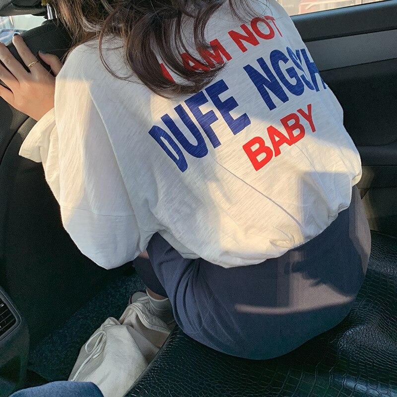 2019 Autumn Plus Size Women T Shirt with Long Sleeve Cotton Womens Clothing Korean Fashion Loose T Shirt Women tee shirt femme
