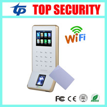 New arrived F22 WIFI biometric fingerprint access control with MF card 13.56MHZ IC card reader fingerprint time attendance