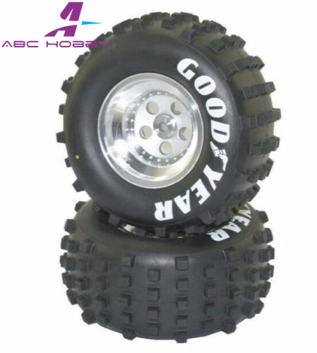 soft Kyosho Kyosct002s 30615 30613 sand Super Rear Tire Good Year And Rim X4