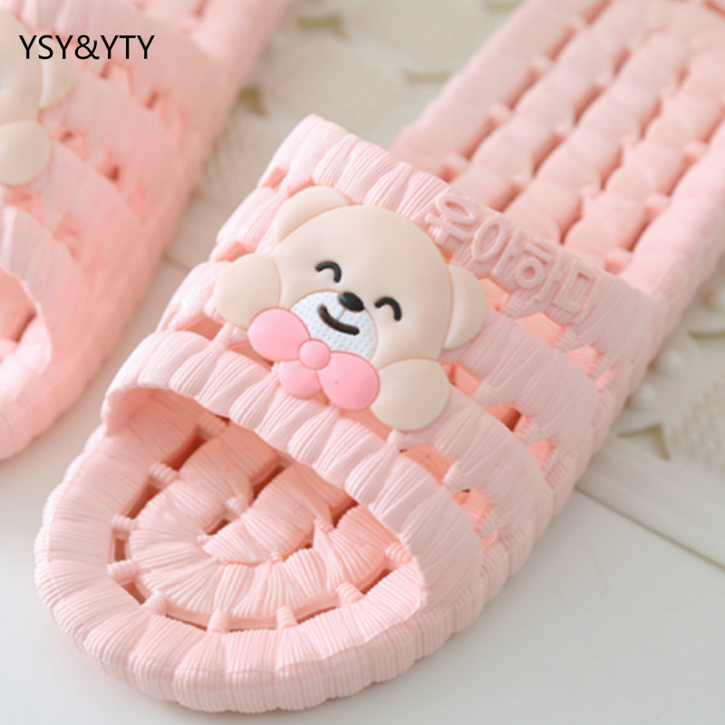 2019 Bathroom Slippers Female Summer Home Home Indoor Anti-slip Leaky Bath Plastic Couple Cool Slippers Male Autumn Summer