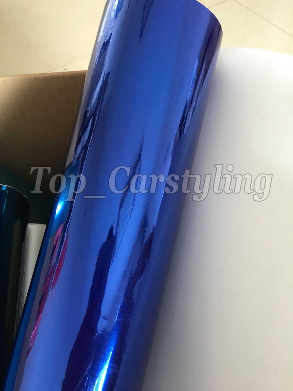 chrome blue mirror stm hexis car wrapping film high stretchable flexible (6)