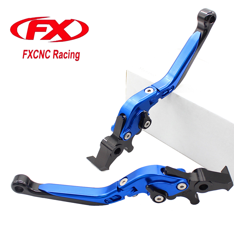 FX CNC Adjustable Fold & Extend Motorcycle Brake Levers For KYMCO XCITING 250 300 500 400 Motorcycles Accessories Brake Lever for kymco shadow 300 kymco people 300 aluminum cnc adjustable folding extendable clutch brake levers pair