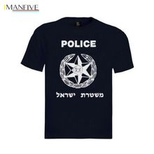 2019 New 100% Cotton T-Shirts Men New Israel Police T Shirt With Logo 100% Cotton Adult Unisex All Sizes Gift Casual Men Tees цены